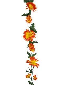 Künstliche Gerbera Girlande orange 170cm