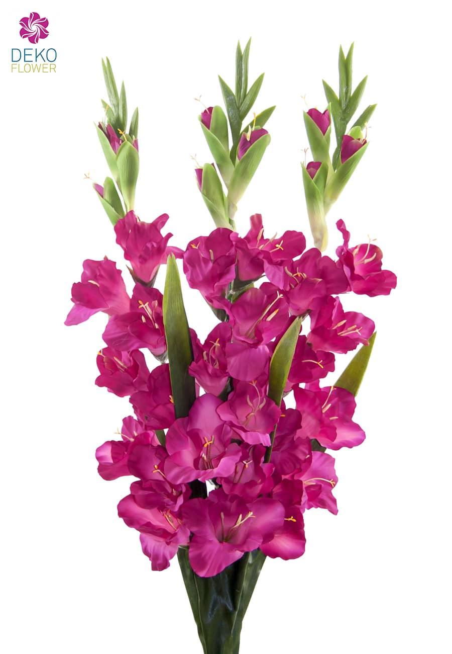 Gladiolen Kunstblumen pink 100 cm 3er Set