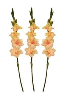 Künstliche Gladiolen gelb 85 cm