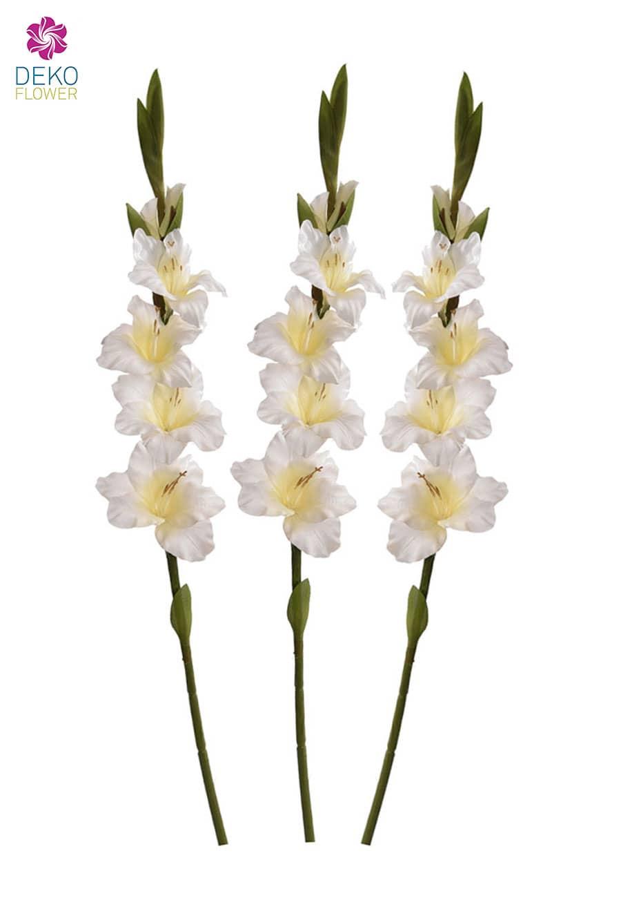 Künstliche Gladiolen weiß 85 cm