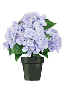 Hortensien Kunstpflanze bläulich lila 27 cm getopft