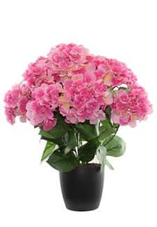 Künstliche Hortensien 53 cm pink getopft