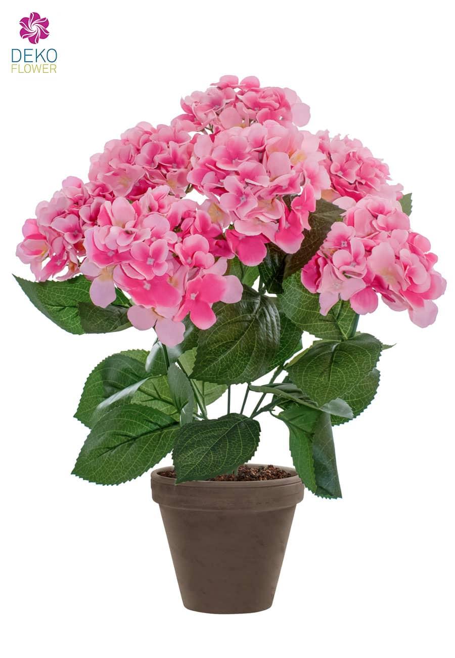 Künstliche Hortensien rosa 53 cm