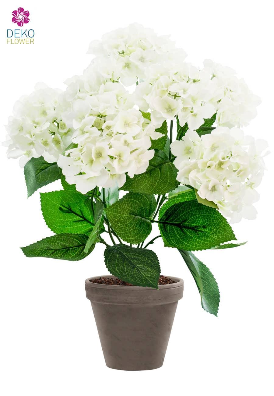Künstliche Hortensien weiß 53 cm