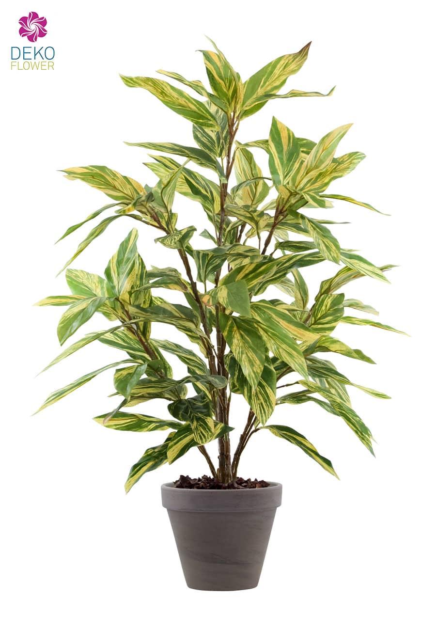 Kunstpflanze Kaleidochrome gelb-grün 90cm
