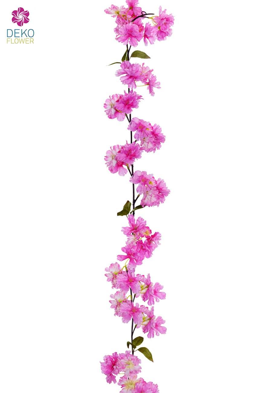 Künstliche Kirschblüten Blumengirlande 180 cm pink