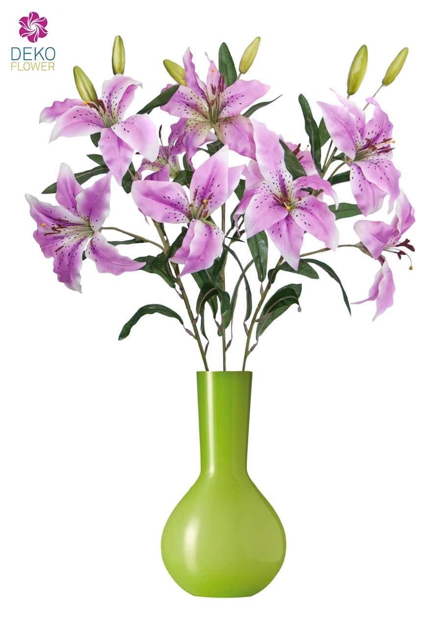 Künstliche Lilien 80 cm lavendel 3er Pack