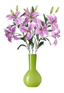 Künstliche Lilien lavendel 80 cm 3er-Pack