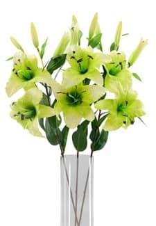 Lilien Kunstblumen zart grün 85 cm 3er Pack