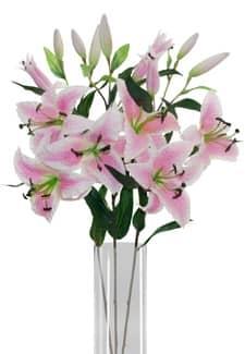 Lilien Kunstblumen rosa 85 cm 3er Pack