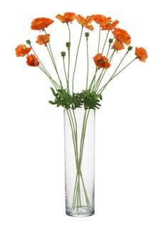 Künstliche Mohnblumen orange 79 cm 6er-Pack