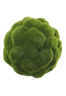 Künstliche Mooskugel 14 cm grün