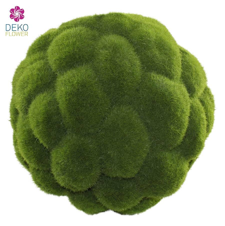 Künstliche Mooskugel grün 18 cm