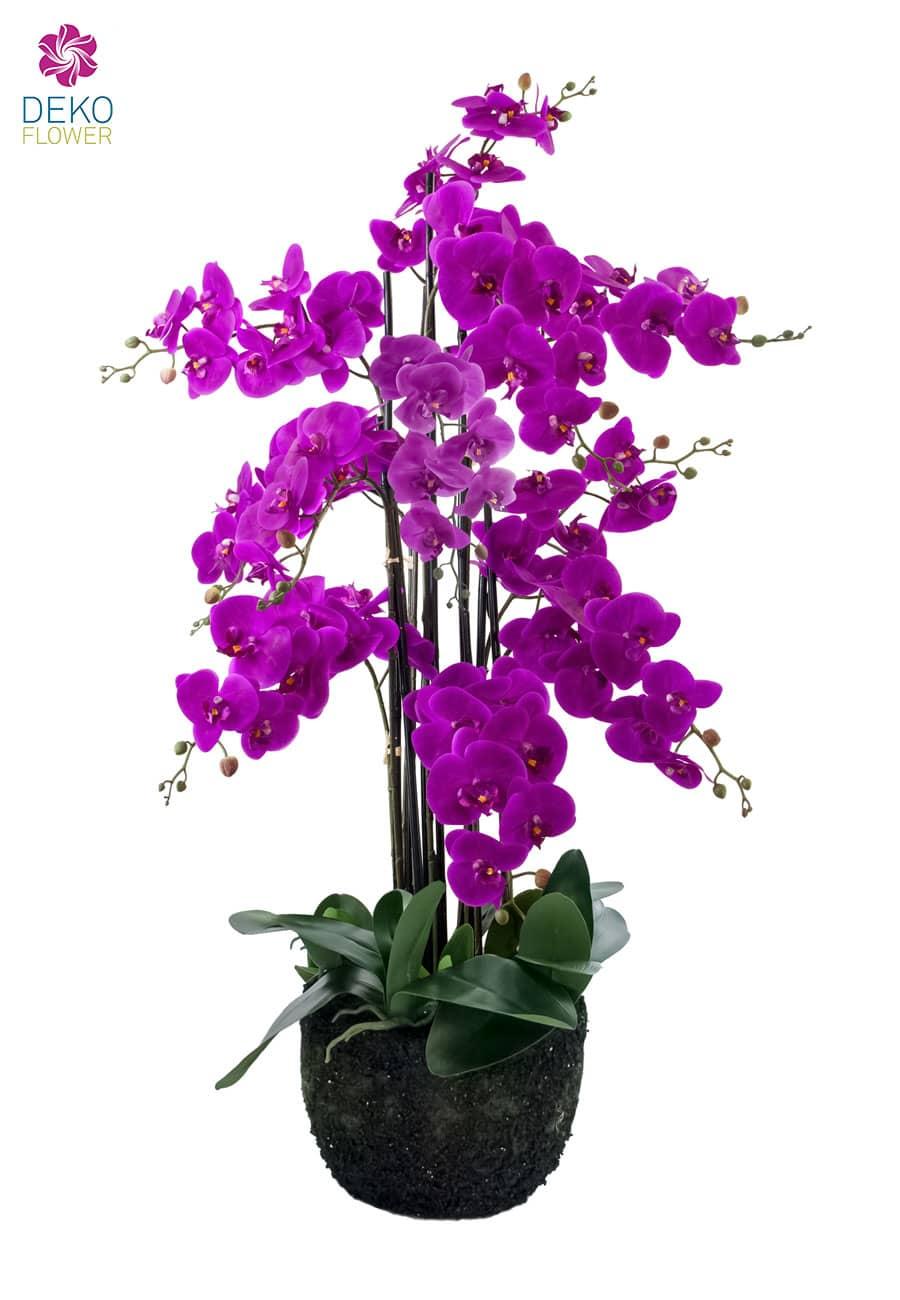 Künstliche Orchidee 115 cm magenta