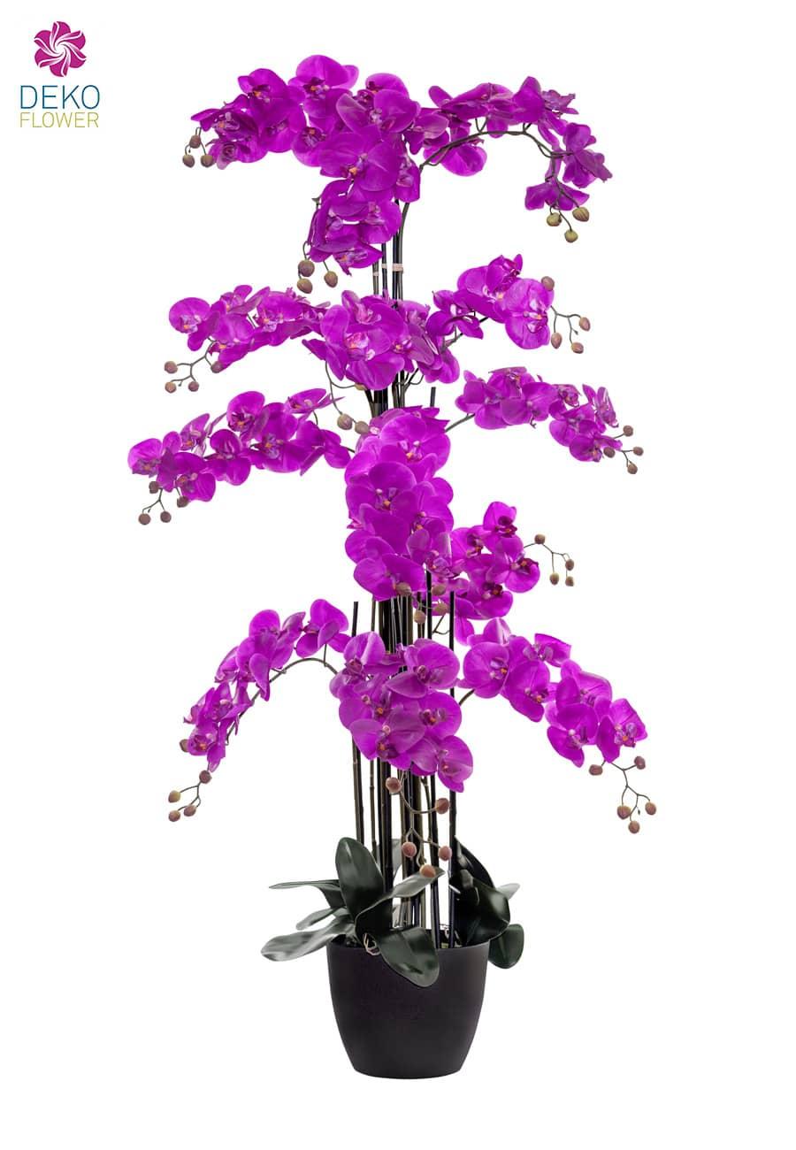 Künstliche Orchidee 150 cm magenta