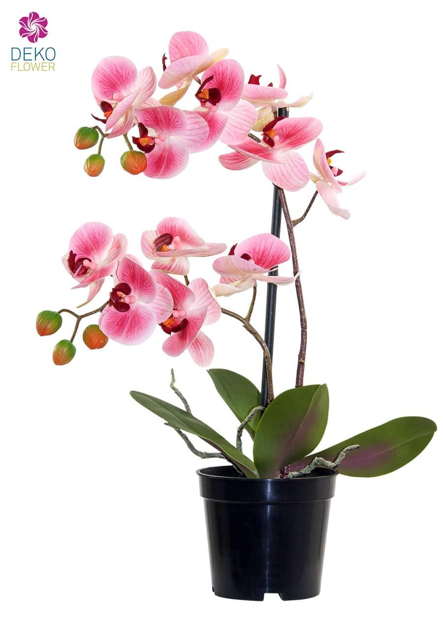 Künstliche Orchidee rosa 41 cm im Topf