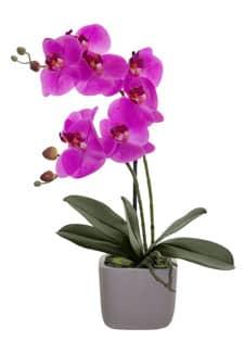 Künstliche Orchidee 51 cm pink getopft