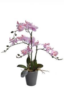 Künstliche Orchidee getopft 59 cm rosa