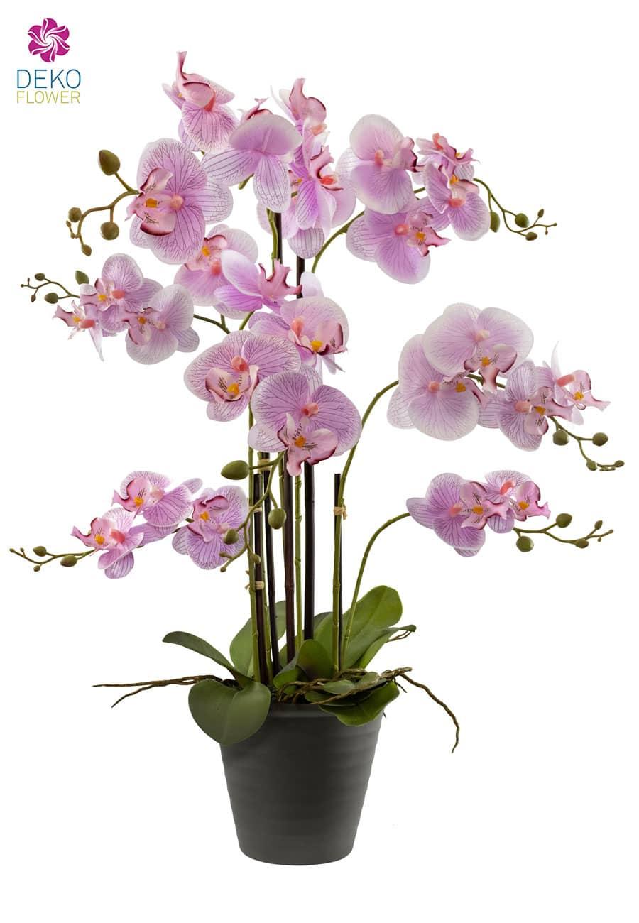 Künstliche Orchidee im Topf 69 cm rosa