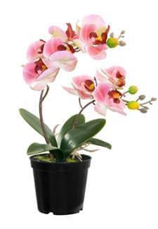 Künstliche Orchidee im Topf rosa 28 cm