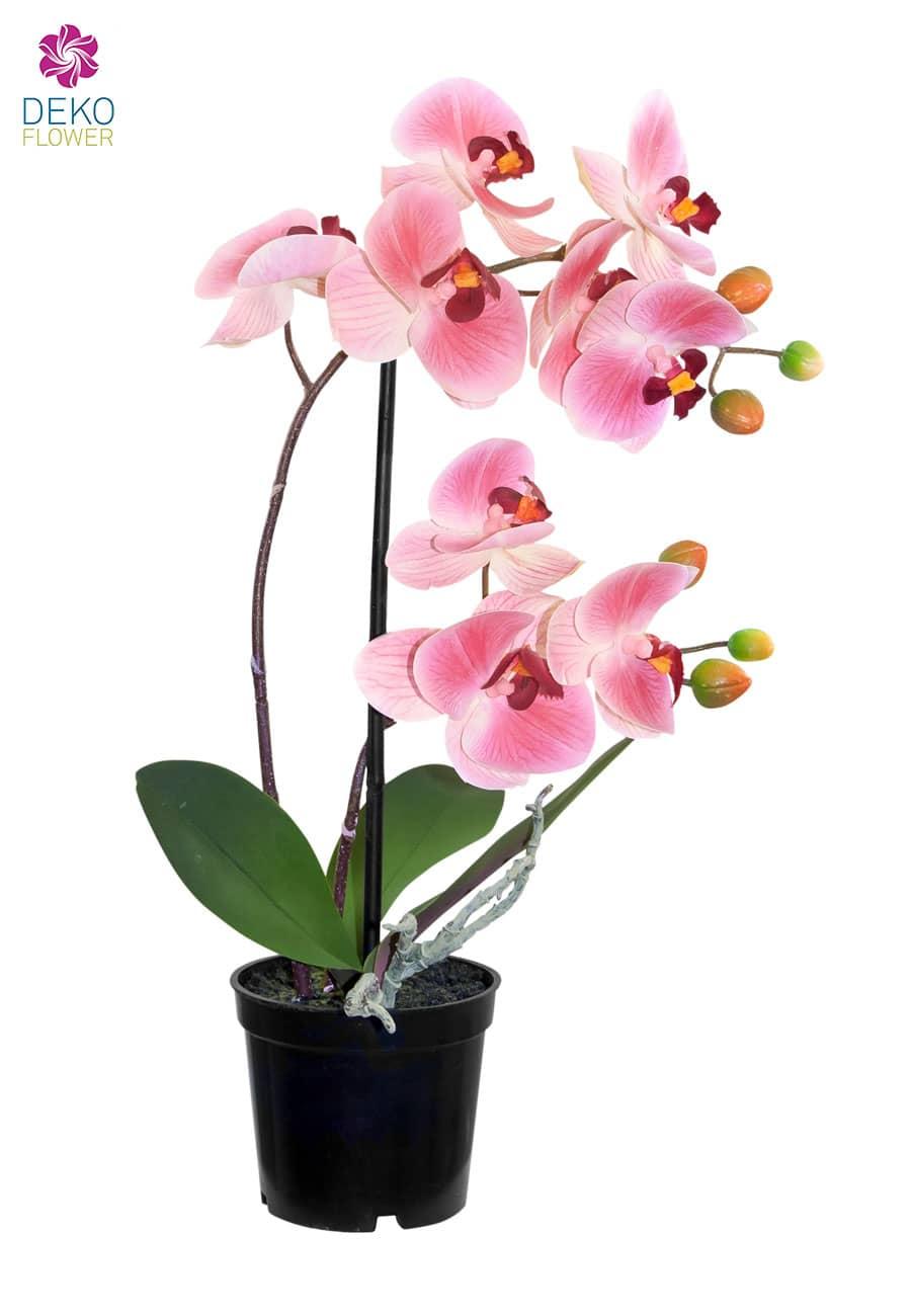 Künstliche Orchidee im Topf rosa 36 cm
