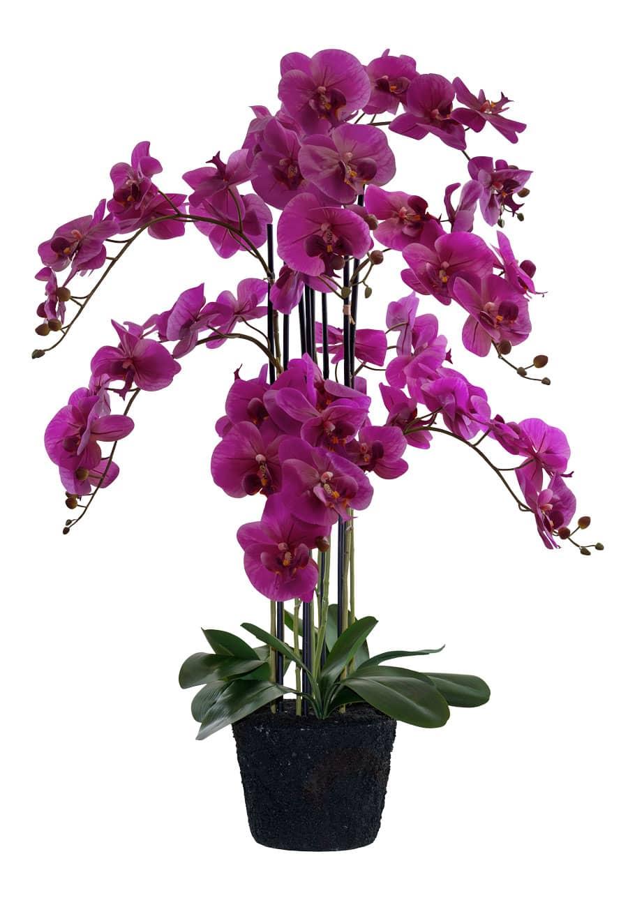 Künstliche Orchidee 125 cm magenta