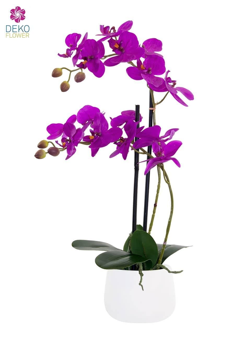 Künstliches Orchideen Gesteck 52 cm magenta