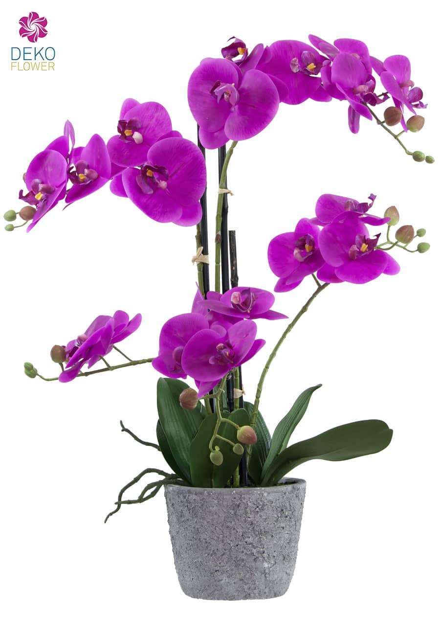 Kunstorchidee 60 cm magenta
