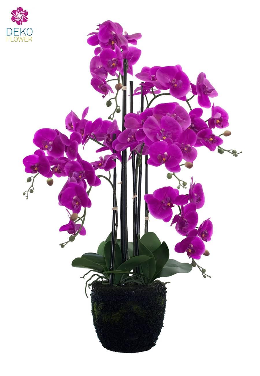 Künstliche Orchidee 90 cm magenta