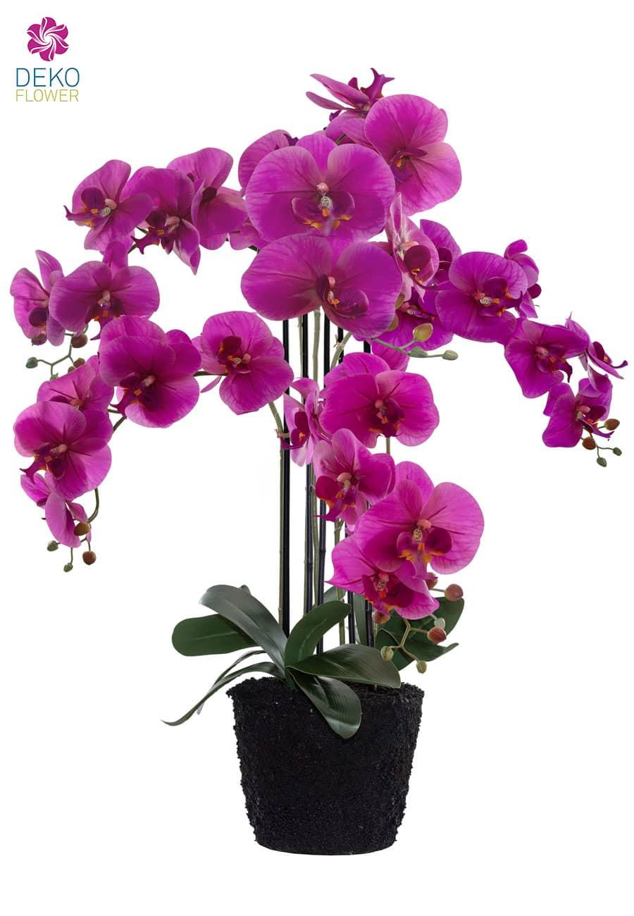 Künstliche Orchidee 97 cm magenta