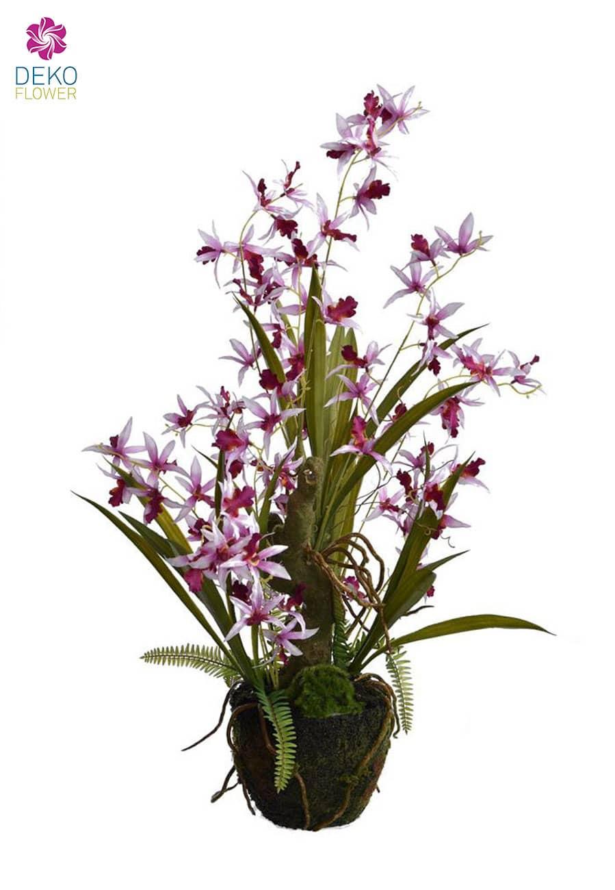 Künstliche Orchidee Oncidium lavendel 69 cm