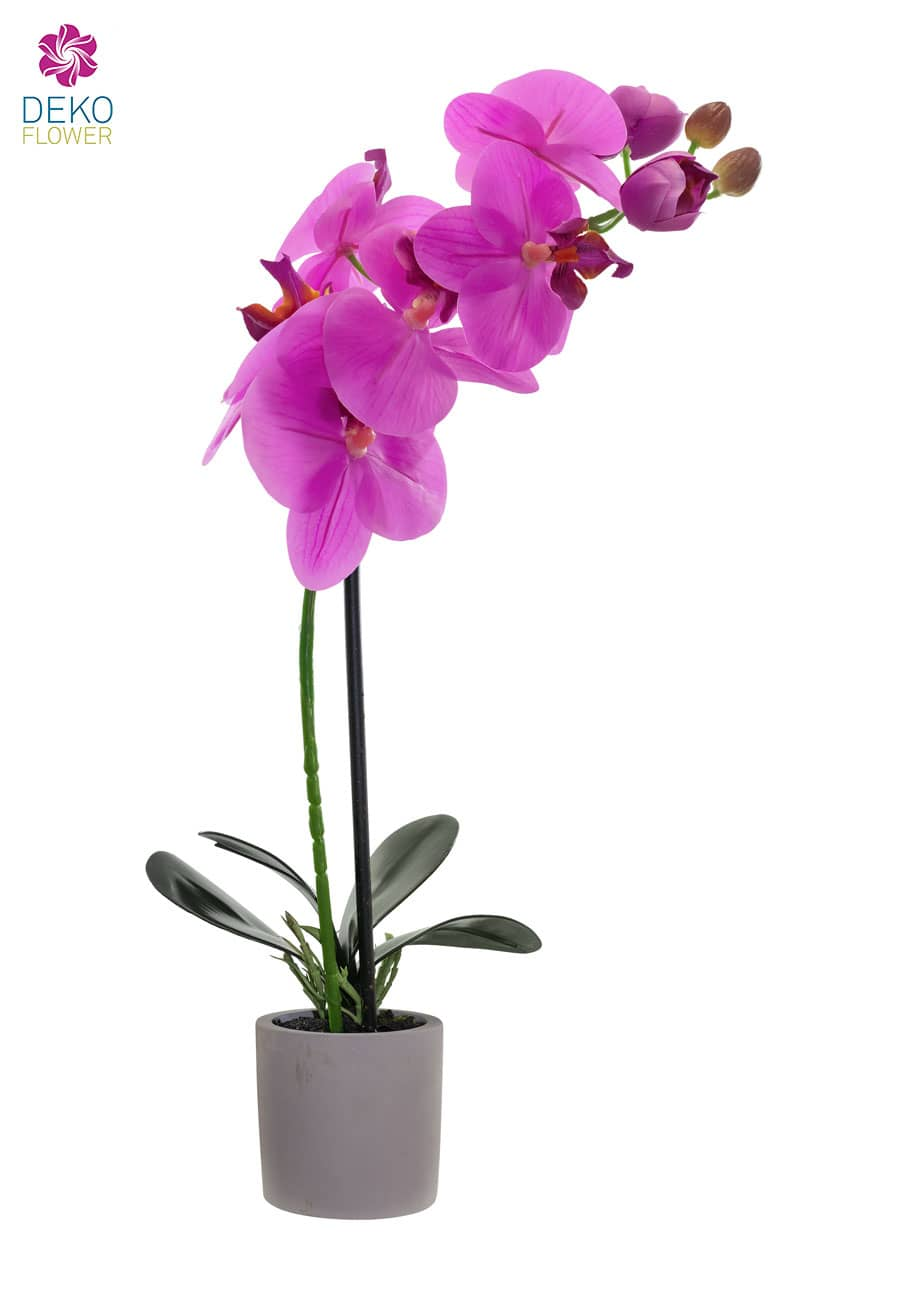 Künstliche Orchidee pink 38 cm