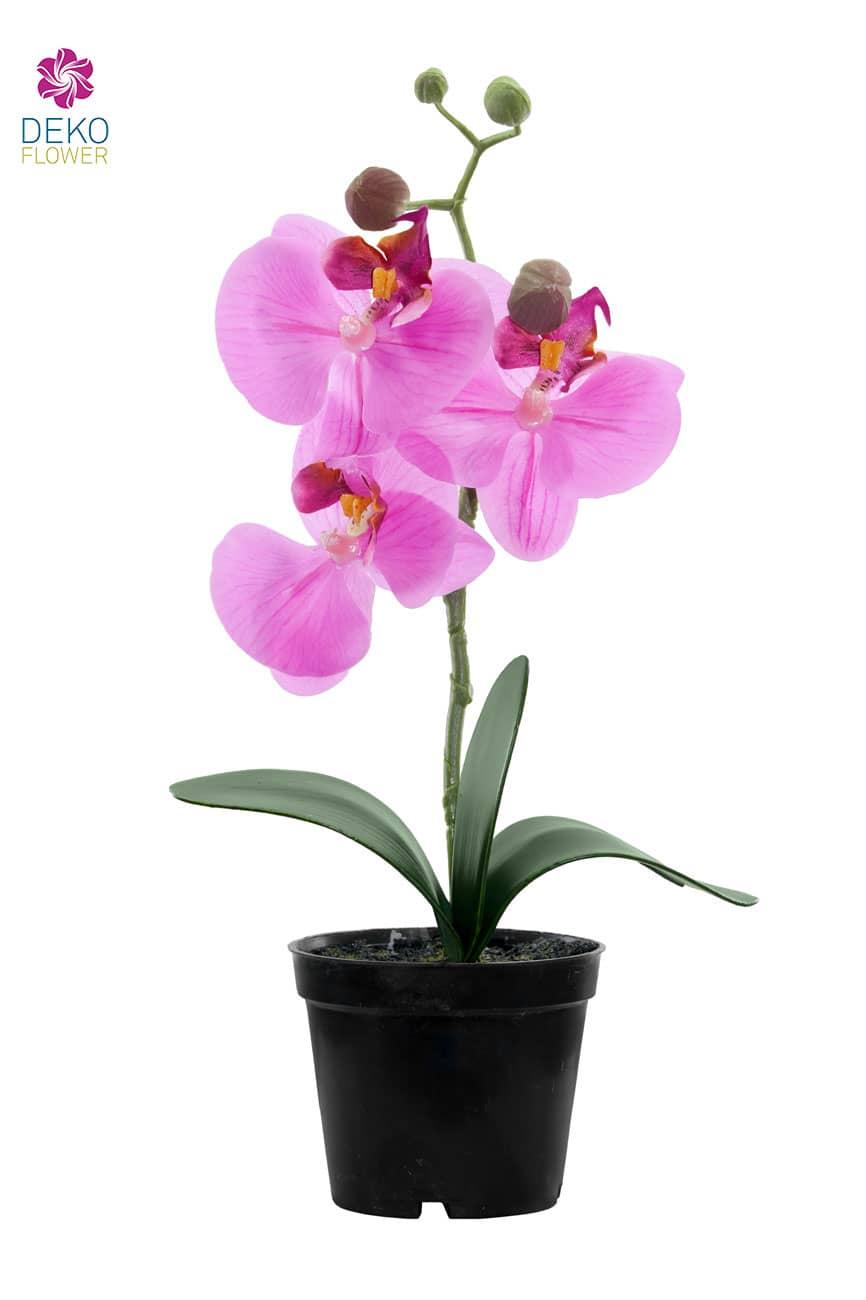 Künstliche Orchidee pink 27 cm