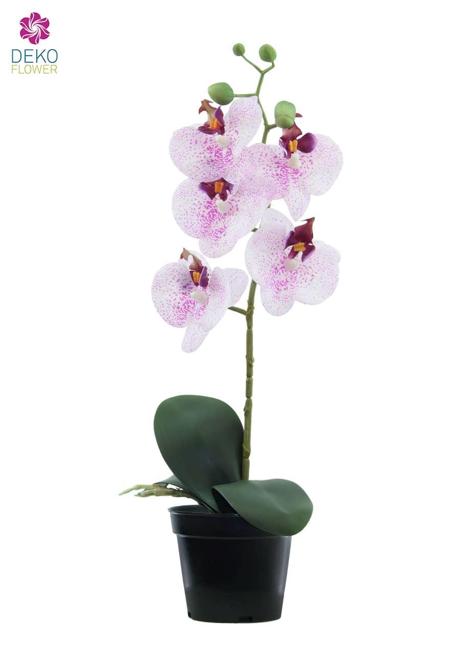 Künstliche Orchidee weiß rosa 40 cm