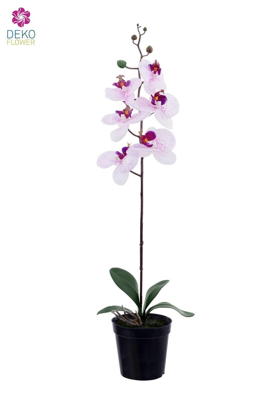 Kunst Orchidee weiß rosa 65 cm
