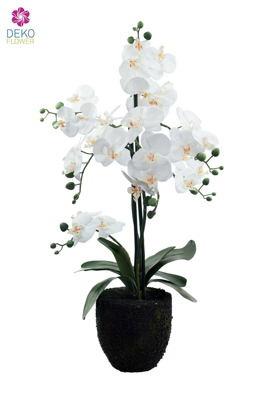 Kunst Orchidee weiß 78 cm