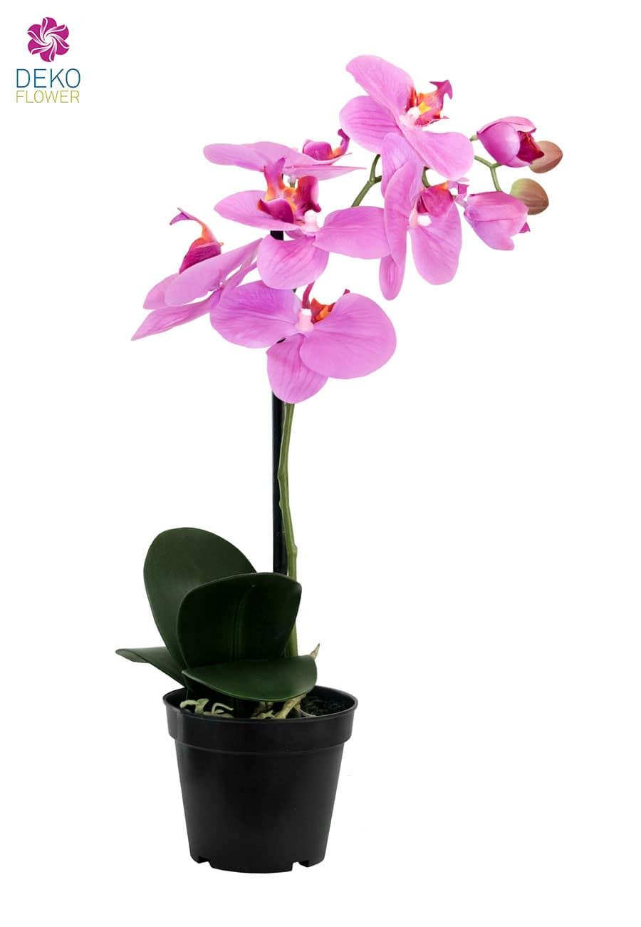 Kunst Orchidee pink 40 cm 6 Blüten