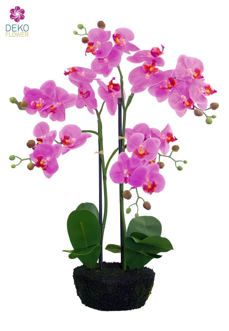 Künstliche Orchidee im Topf pink 62 cm