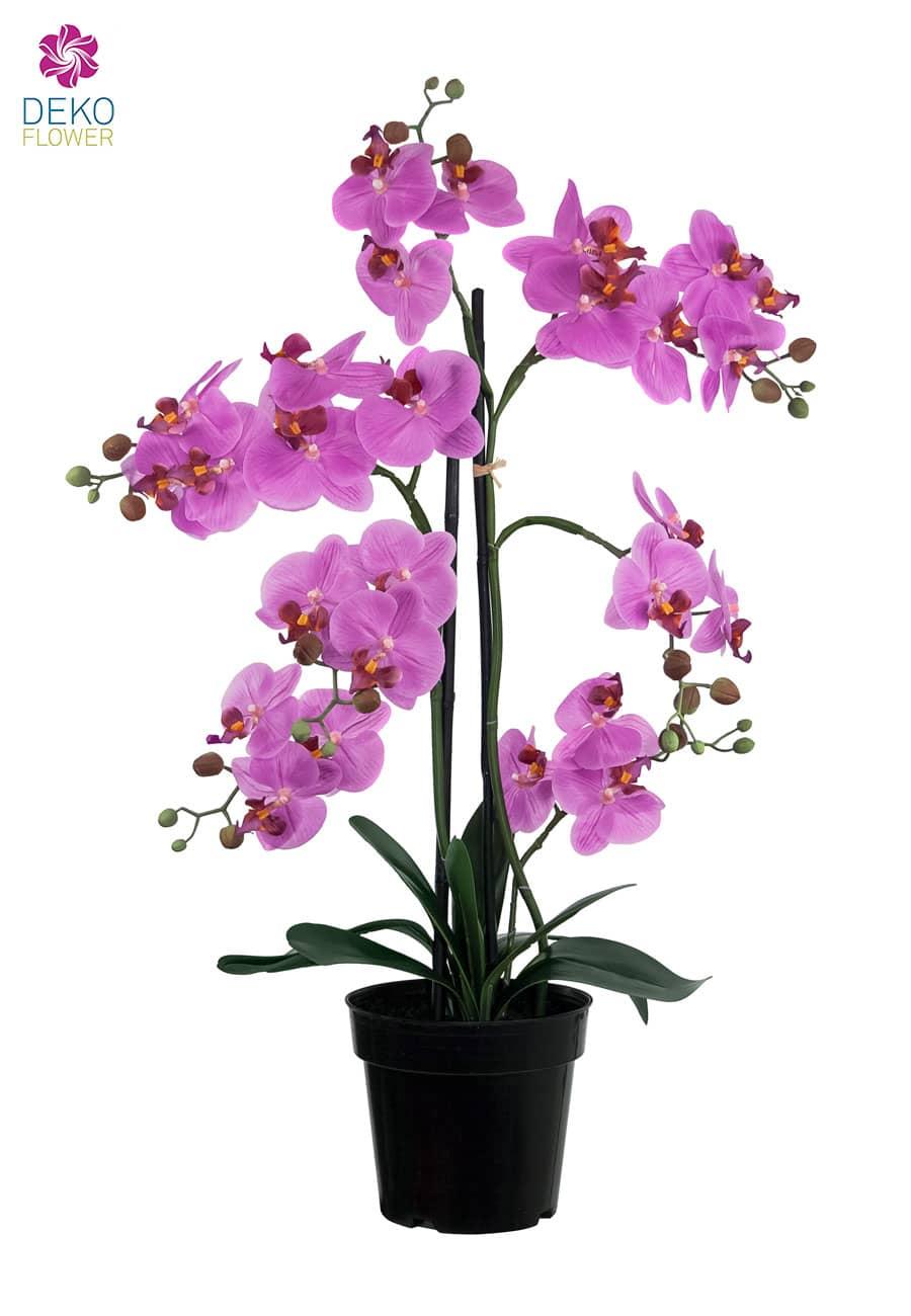 Künstliche Orchidee pink 76 cm
