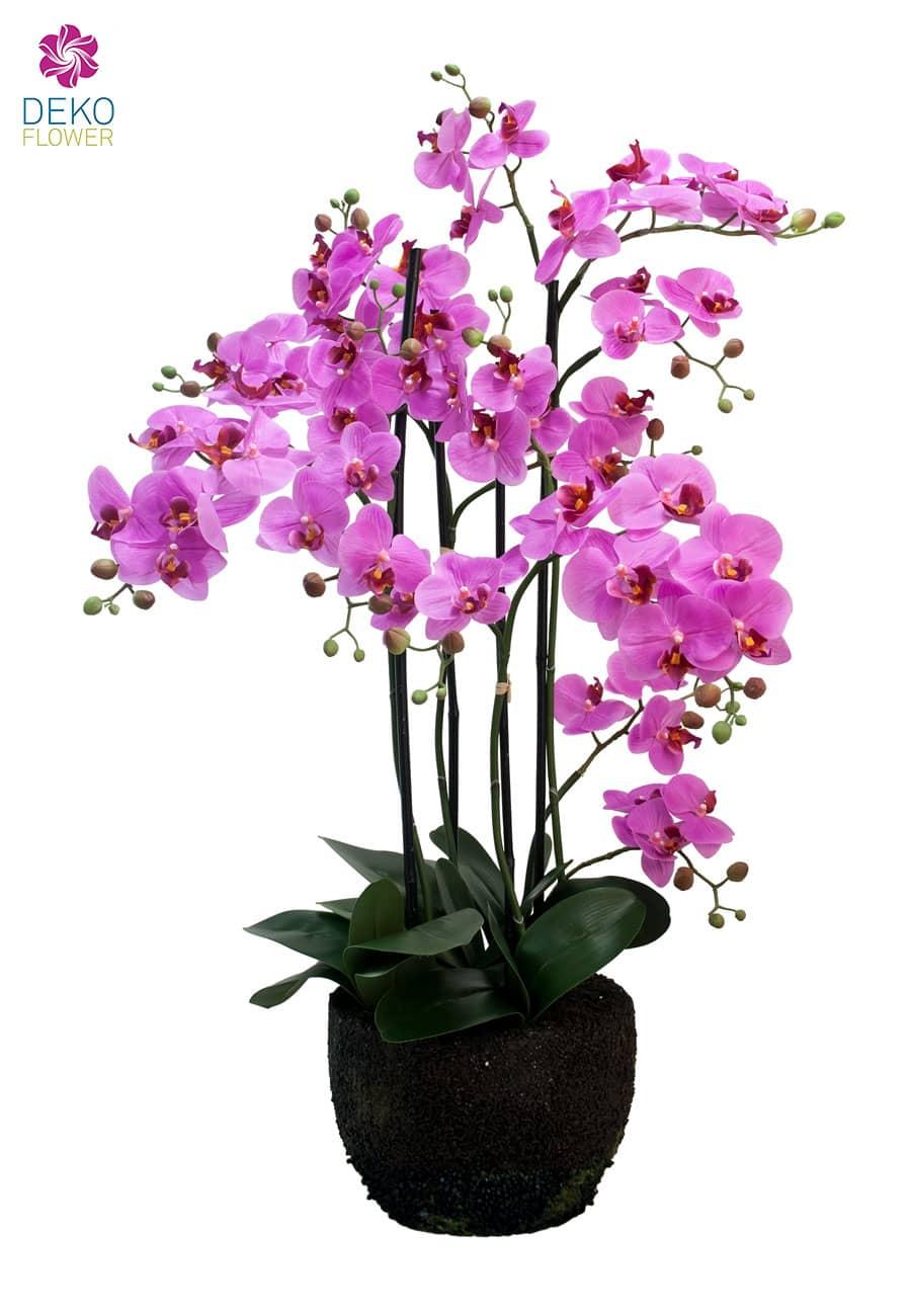 Künstliche Orchidee pink 90 cm