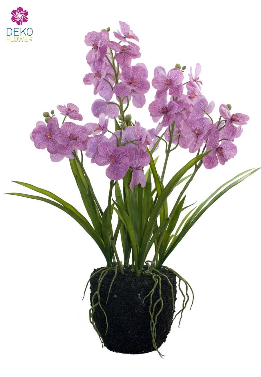 Künstliche Vanda Orchidee lavendel 80 cm