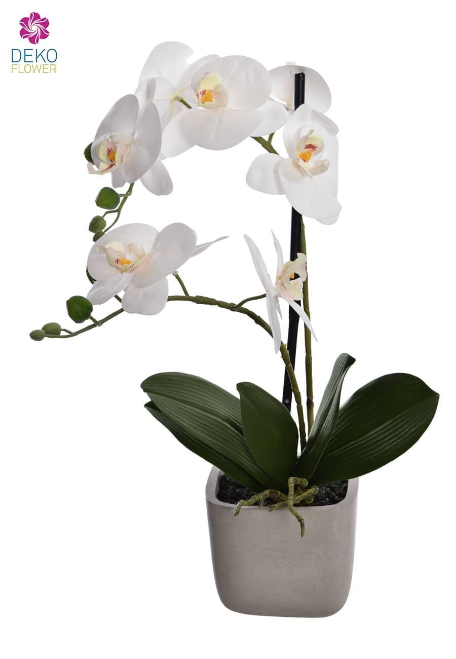Künstliche Orchidee 51 cm weiß