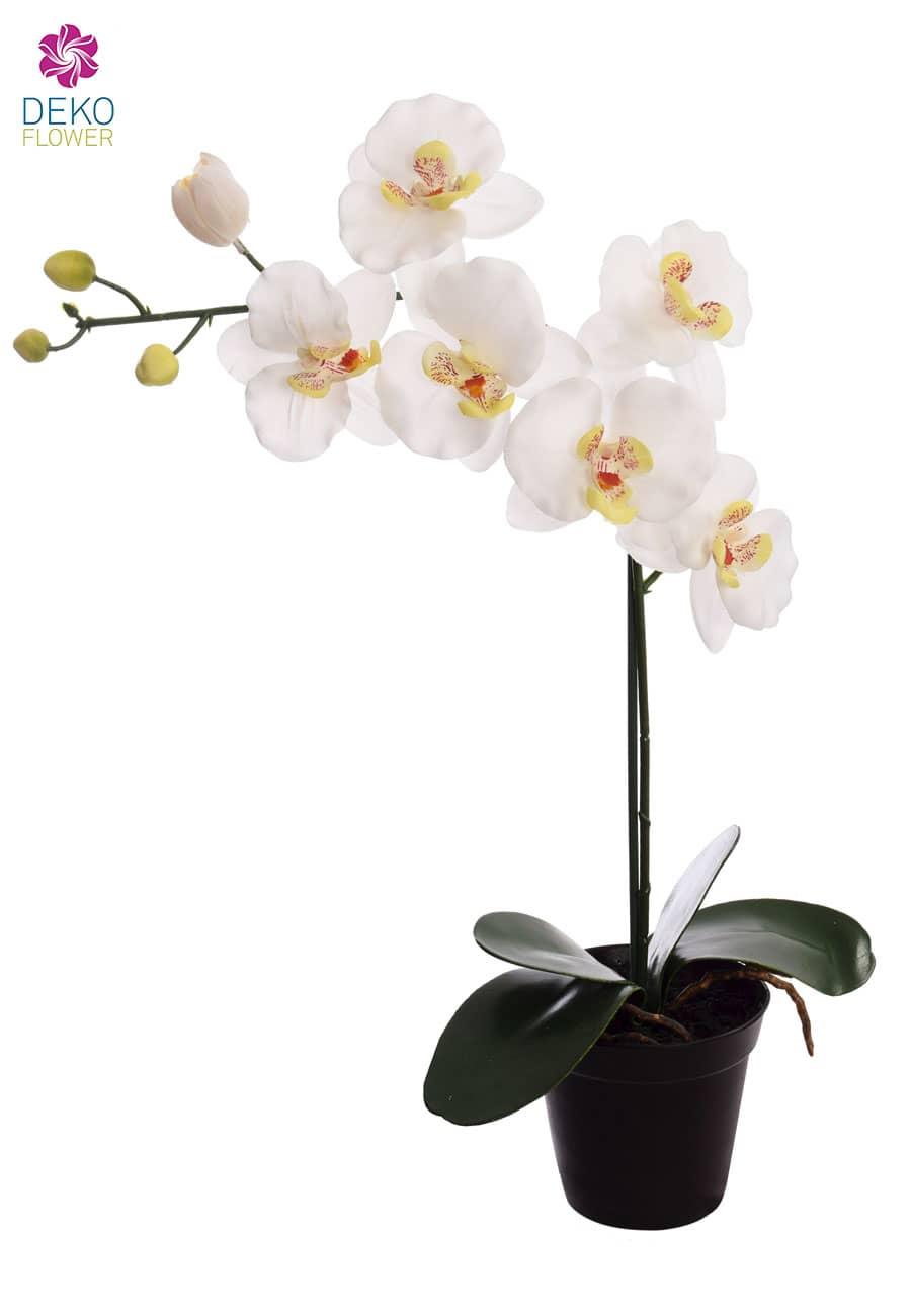 Künstliche Orchidee weiß 57 cm