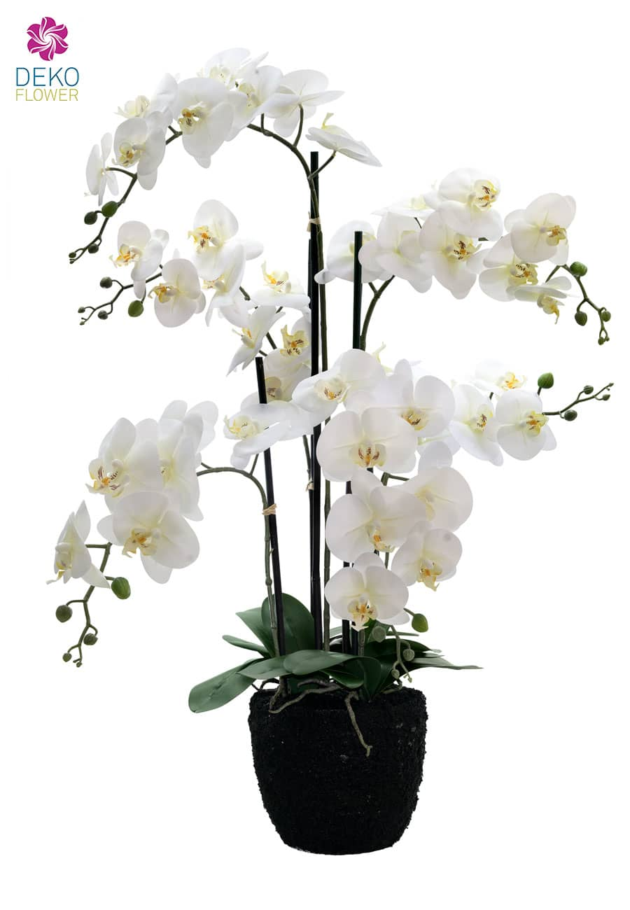 k nstliche orchidee 90 cm wei. Black Bedroom Furniture Sets. Home Design Ideas