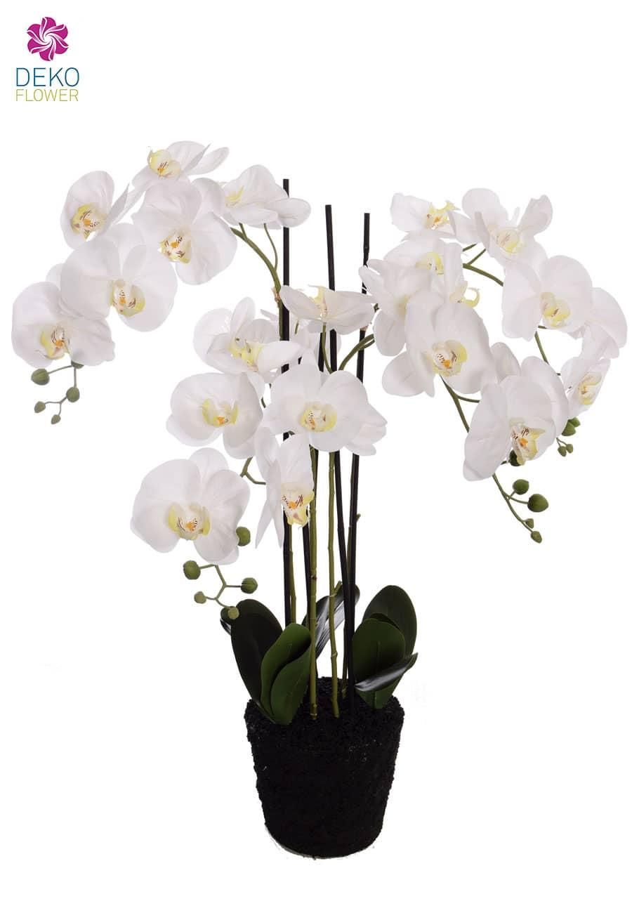 Künstliche Orchidee weiß 97 cm