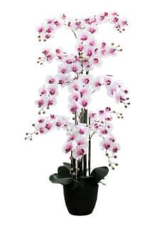 Künstliches Orchideen Arrangement 150 cm weiß rosa extragroß