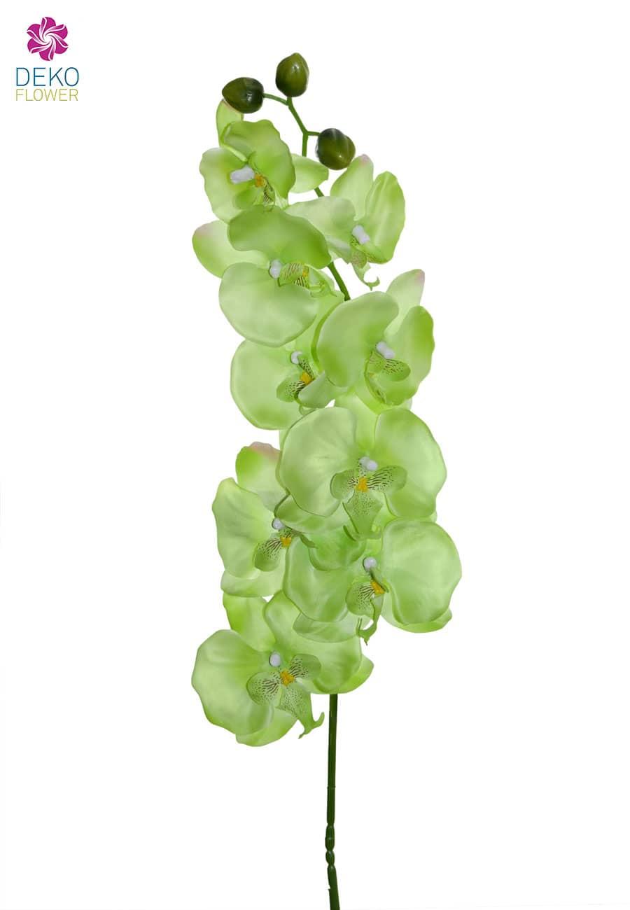 Künstlicher Orchideenzweig grün 100 cm
