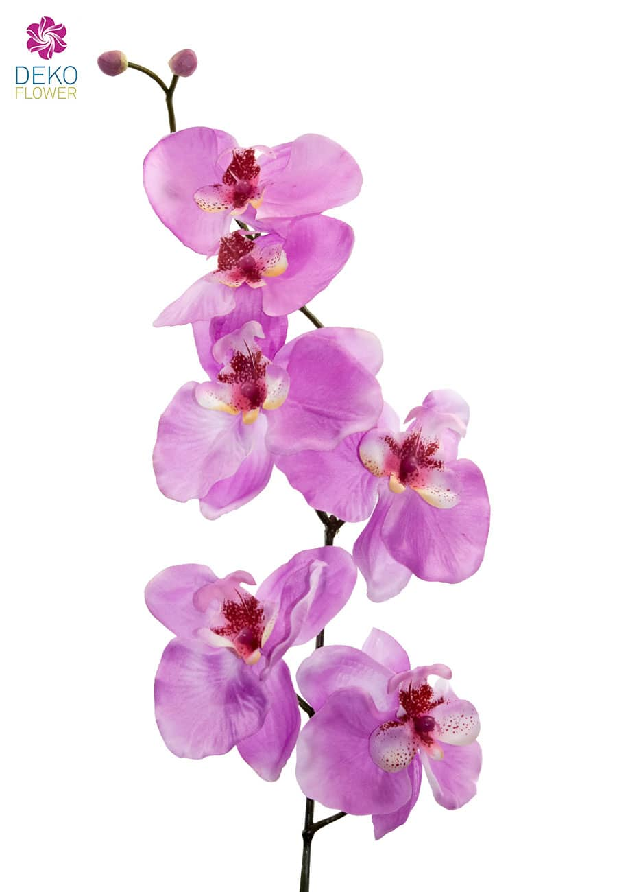 Künstliche Orchideenzweige lavendel 77 cm 3er-Pack