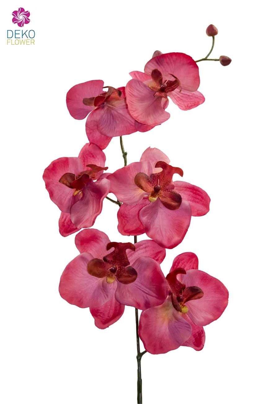 Künstliche Orchideenzweige pink 77 cm 3er-Pack