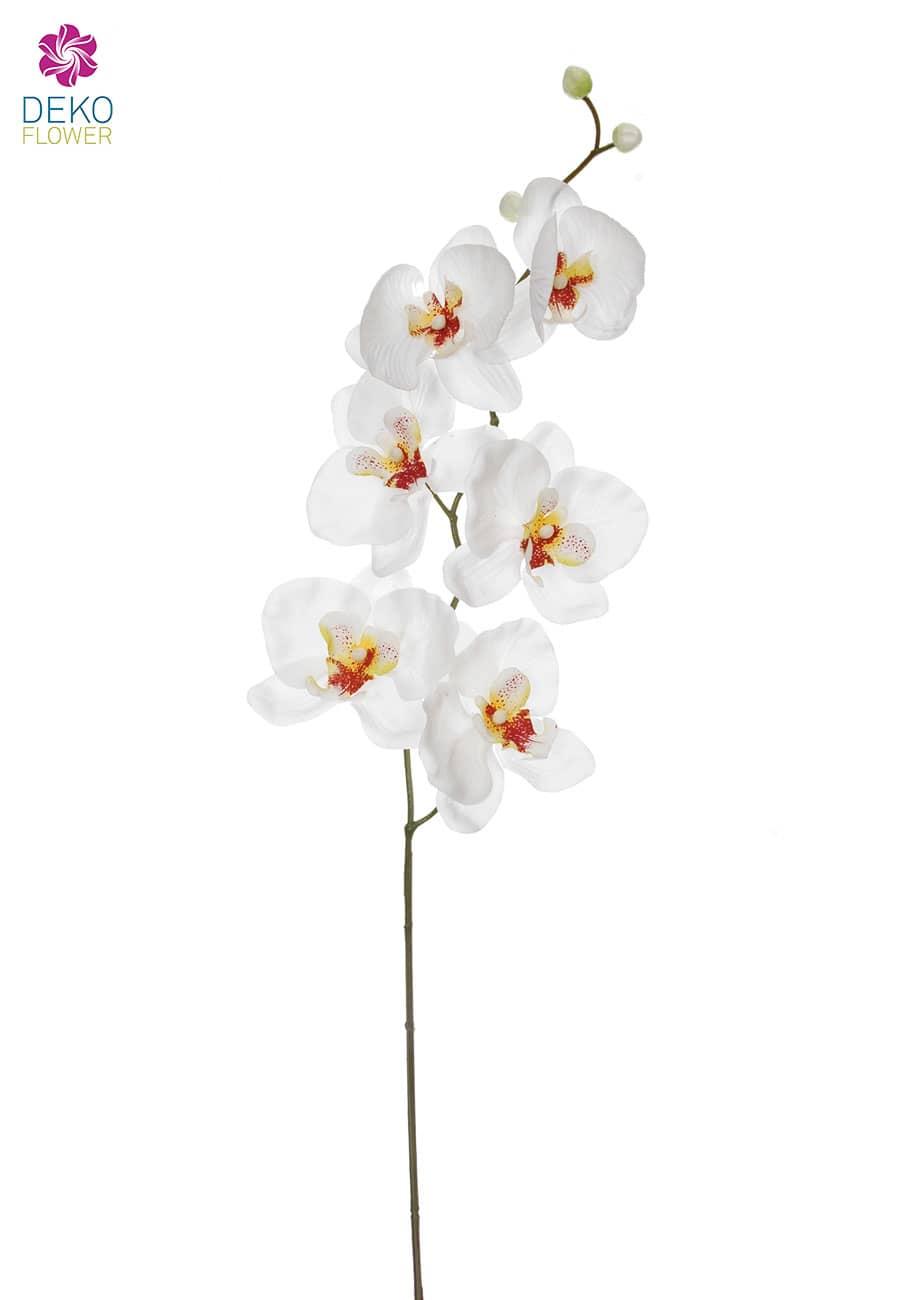 Künstliche Orchideenzweige weiß 77 cm 3er Pack